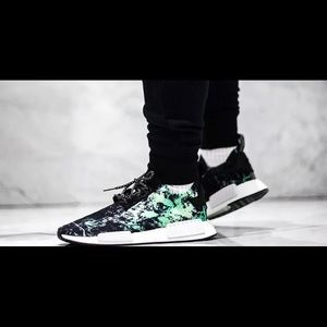 Adidas Men's NMD R1 Prime Knit Black Green Shoes